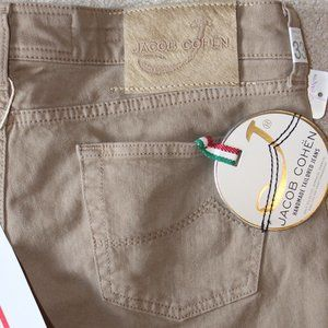 ITALY Jacob Cohen Denim W33L34 Beige 97% COTTON